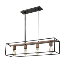 ELK Lighting 14462/4 - Rigby 4 Light Chandelier In Oil Rubbed Bronze An