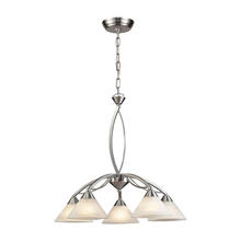 ELK Lighting 7636/5 - Elysburg 5 Light Chandelier In Satin Nickel And