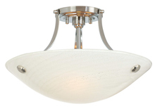 Stone Lighting CL501OPBZCF13 - Ceiling Mount Neptune Opal Bronze Compact Fluorescent 3x13W