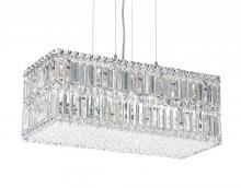 Schonbek 2280A - Quantum 18 Light 110V Pendant in Stainless Steel with Clear Spectra Crystal