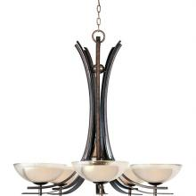 Maxim 11525TCAD - Five Light Textured Clear Glass Up Chandelier