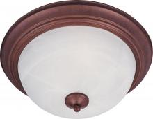 Maxim 5841MRCS - Two Light Country Stone Marble Glass Bowl Flush Mount
