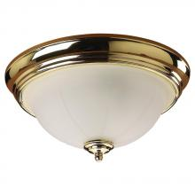 Sea Gull 77050-02 - Brass Bowl Flush Mount
