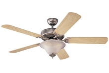"Monte Carlo 5HS52BPD-L - 52"" Homeowner's Deluxe Fan - Brushed Pewter"