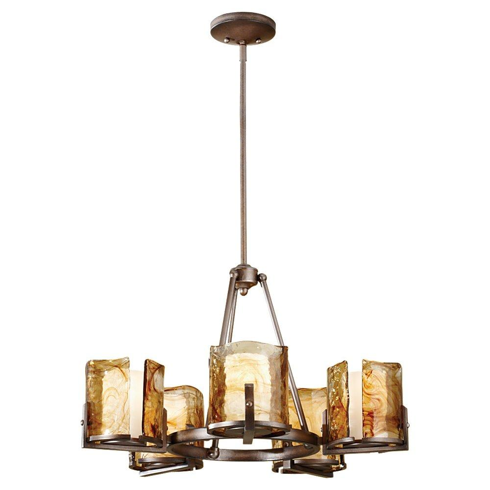 5 Light Single Tier Chandelier F2689 5RBZ