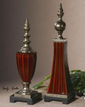 Uttermost 19762 - Bay Ceramic Finials, S/2
