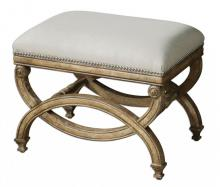 Uttermost 23052 - Uttermost Karline Natural Linen Small Bench