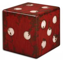 Uttermost 24168 - Uttermost Dice Red Accent Table