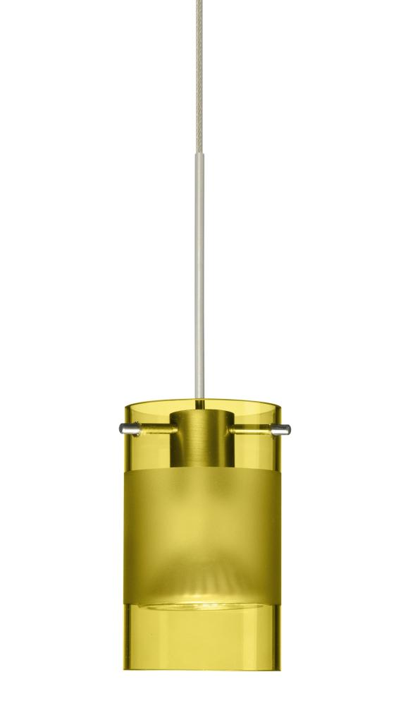 Besa pendant scope satin nickel olive frost 1x5w led