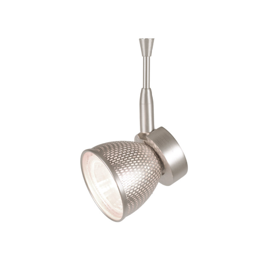 Mint low voltage quick connect fixture with brushed nickel mesh in brushed nickel