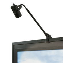 WAC US DL-007-BK - Adjustable Arm 007 Display Light with Clamp and Plug-in Cord in Black