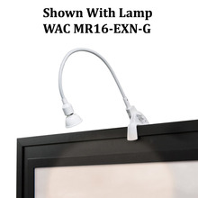 WAC US DL-214-WT - Adjustable Arm 214 Display Light with Clamp and Plug-in Cord in White