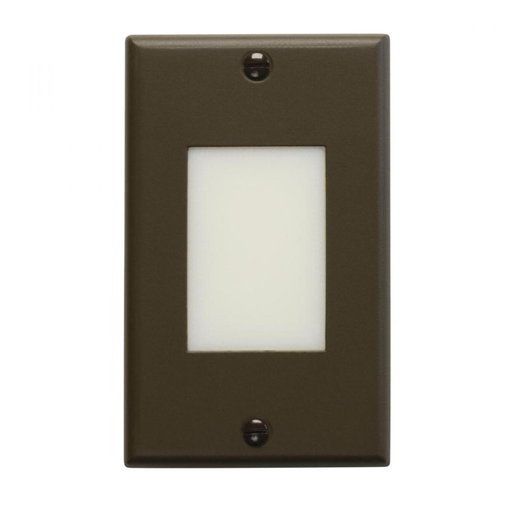1 Light LED Architectural Bronze Kichler Lighting KI 12602AZ Kichler 12602AZ Shielded Landscape Step