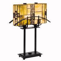 Kichler 60282CA - Two Light Satin Black Table Lamp