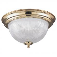 Generation Lighting - Seagull 7595-02 - Brass Bowl Flush Mount