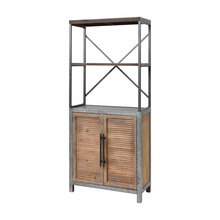 Elk Home 3138-452 - Badlands 2-Door Bookcase in Drifted Oak and Aged Iron